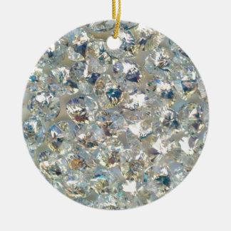 Shiny Crystals Ceramic Circle Ornament