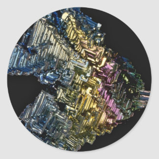 Shiny crystals of Native bismuth Classic Round Sticker