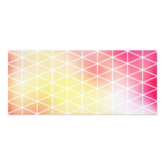 Shiny Cubic Grid Pattern 4x9.25 Paper Invitation Card