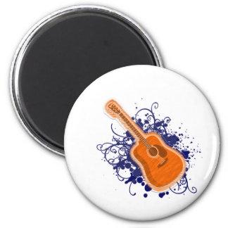 Shiny de Guitar splatter Imán Redondo 5 Cm