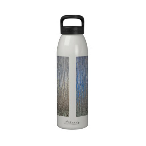 Shiny decorative metal sheet reusable water bottle
