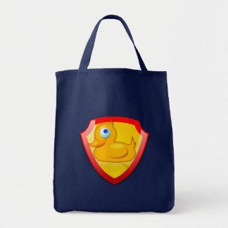Shiny Defender Duck Canvas Bag