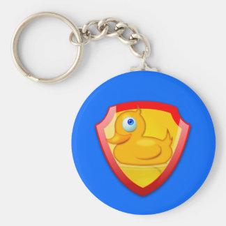 Shiny Defender Duck Basic Round Button Keychain