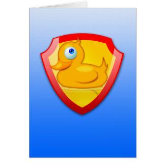 Shiny Defender Duck Card