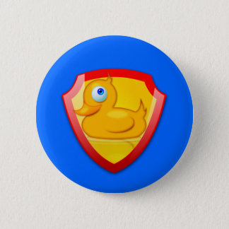 Shiny Defender Duck Pinback Button