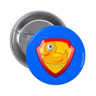 Shiny Defender Duck Pinback Button