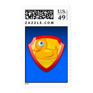Shiny Defender Duck Postage Stamp