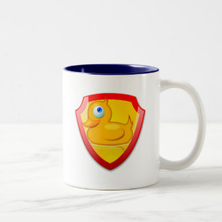 Shiny Defender Duck Two-Tone Coffee Mug
