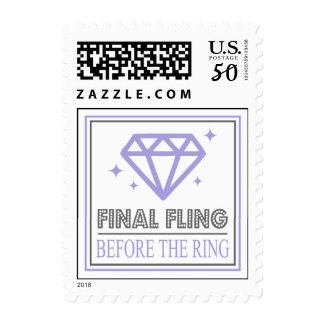 Shiny Diamond Bachelorette Party (Purple / Gray) Postage