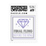 Shiny Diamond Bachelorette Party (Purple / Gray) Postage