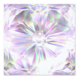 Shiny diamond customizable card
