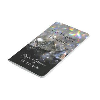 Shiny Diamonds Festive Elegant Black White Chic Journal