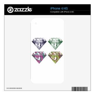 Shiny Diamonds Skins For iPhone 4