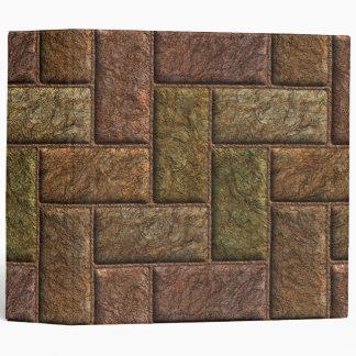 Shiny digital bricks pattern bronze and copper binder