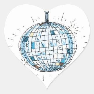 Shiny Disco Ball Heart Sticker
