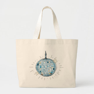 Shiny Disco Ball Large Tote Bag
