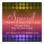 Shiny Disco Dots Special Party Invitation
