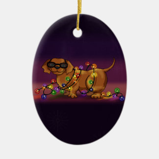 Shiny Dog Ceramic Ornament