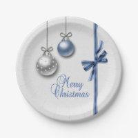 Shiny Elegant Christmas Balls - Paper Plate