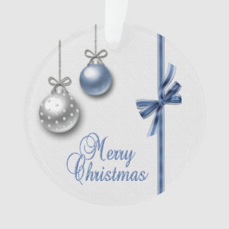 Shiny Elegant Christmas Balls - Round Ornament
