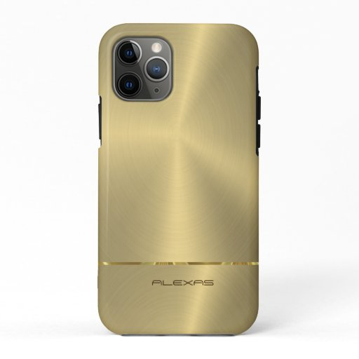 Shiny faux gold iPhone 11 pro case
