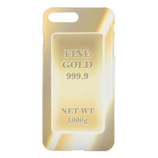 Shiny Fine Gold 999.9 Gold Brick Gold Bar iPhone 7 Plus Case