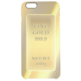 Shiny Fine Gold 999.9 Gold Brick Gold Bar Uncommon Clearly™ Deflector iPhone 6 Plus Case