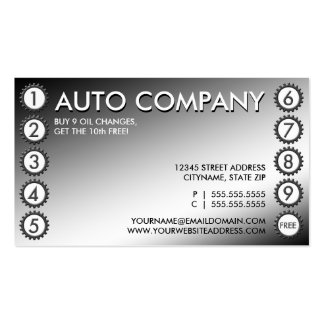 shiny gears punchcard Double-Sided standard business cards (Pack of 100)