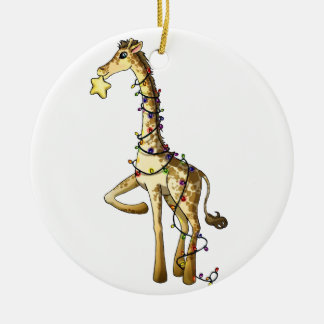 Shiny Giraffe Ceramic Ornament