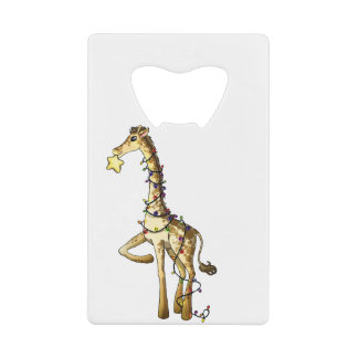 Shiny Giraffe Credit Card Bottle Opener