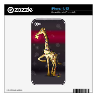Shiny Giraffe iPhone 4S Decals