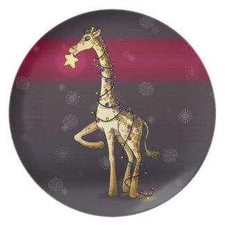 Shiny Giraffe Plates