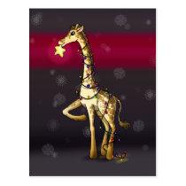 Shiny Giraffe Postcard