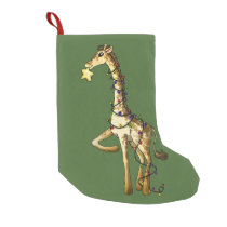 Shiny Giraffe Small Christmas Stocking