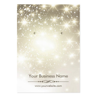 Shiny Glitter Gold Sparkles Earring Display Cards