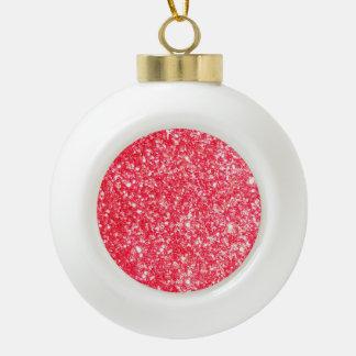 Shiny Glitter Sparkley Ceramic Ball Christmas Ornament