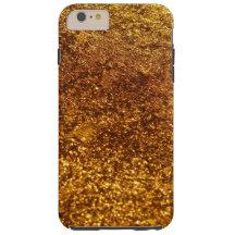 Shiny Glitter, Sparkling Glitter Glow - Gold Tough iPhone 6 Plus Case