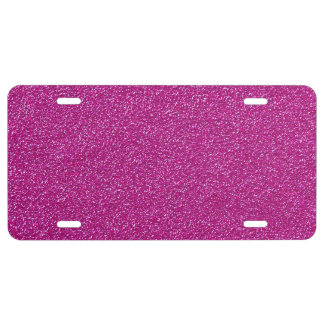 Shiny Glitter, Sparkling Glitter Glow - Pink License Plate