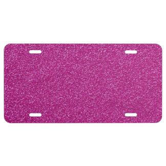 Shiny Glitter, Sparkling Glitter Glow - Pink License Plate