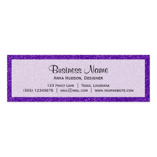 Shiny Glitter, Sparkling Glitter Glow - Purple Double-Sided Mini Business Cards (Pack Of 20)