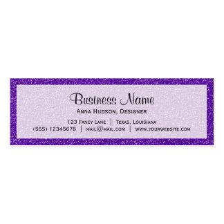 Shiny Glitter, Sparkling Glitter Glow - Purple Mini Business Card