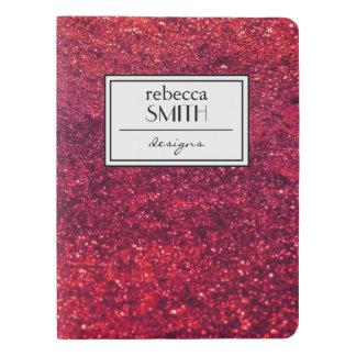 Shiny Glitter, Sparkling Glitter Glow - Red Extra Large Moleskine Notebook