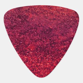 Shiny Glitter, Sparkling Glitter Glow - Red Guitar Pick