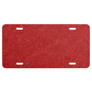 Shiny Glitter, Sparkling Glitter Glow - Red License Plate