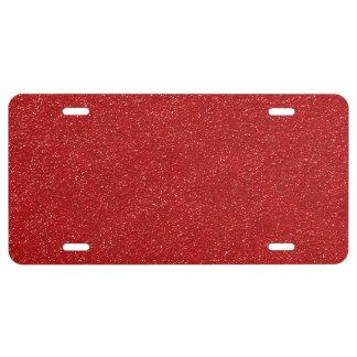 Shiny Glitter, Sparkling Glitter Glow - Red License Plate