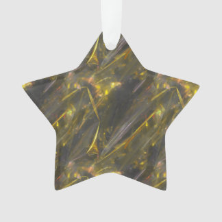 Shiny Gold Color Folds Texture Pattern Ornament