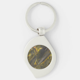 Shiny Gold Color Folds Texture Pattern Key Chains