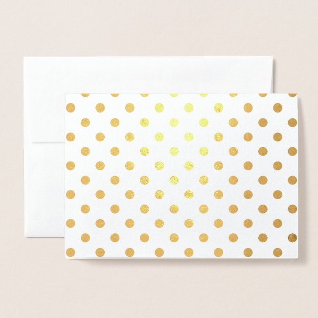 Shiny Gold Foil Polka Dots