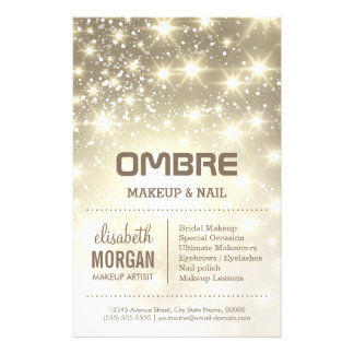 Shiny Gold Glitter Sparkles Beauty Salon Flyer