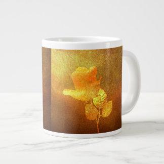 Shiny Gold Ink Paper Romantic Imprinted Rose Giant Coffee Mug